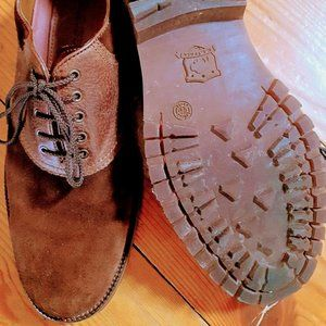 Trask Tobacco Suede Saddle Shoes